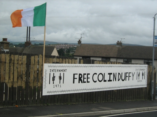 Free Colin Duffy mural a Newry