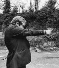 Martin McGuinness & luger pistol