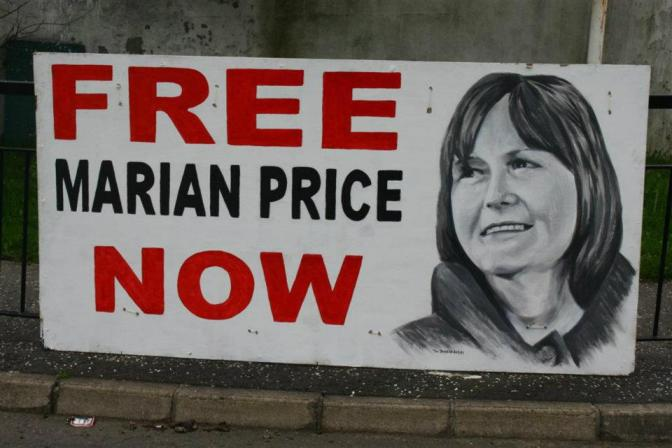 Marian Price board by Bogside Artists