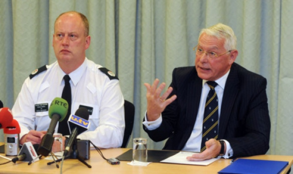 Assistant Chief Constable George Hamilton and State Pathologist for Northern Ireland, Prof Jack Crane