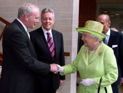 Queen Elizabeth's handshake with Sinn Fein's Martin McGuinness