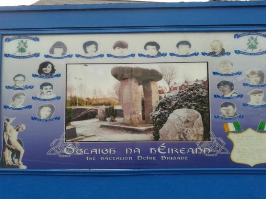 Derry - Targa in memoria dei caduti della prima brigata di Derry