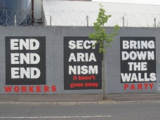 "Belfast - ""End sectarianism bring down the walls"""