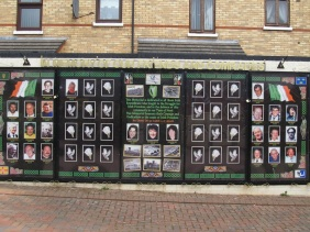 Belfast - Memorial Plaque in Ardoyne