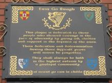 "Belfast - ""Targa commemorativa"""