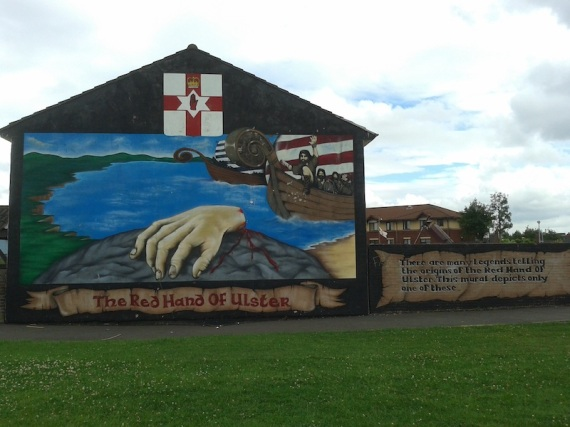 "Belfast - ""The red hand of Ulster"""