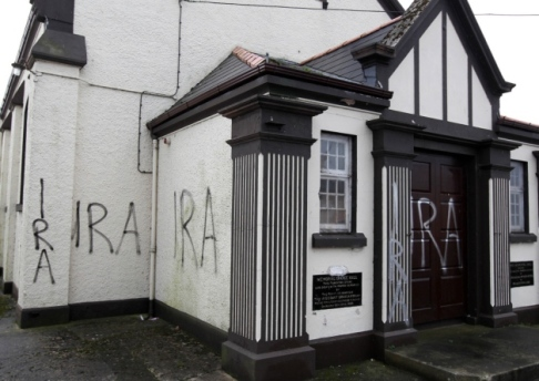 Crumlin Orange Hall graffiti