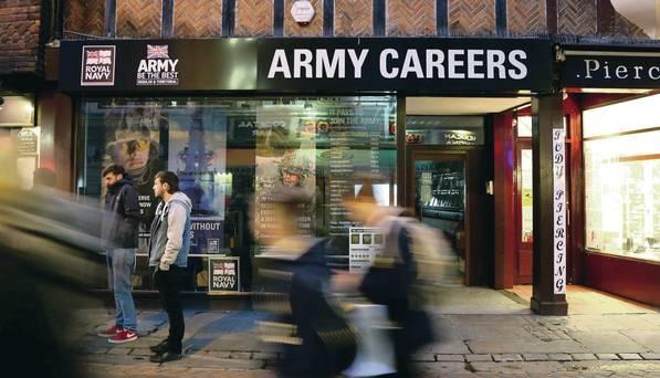 ufficio di reclutamento del British Army a Canterbury