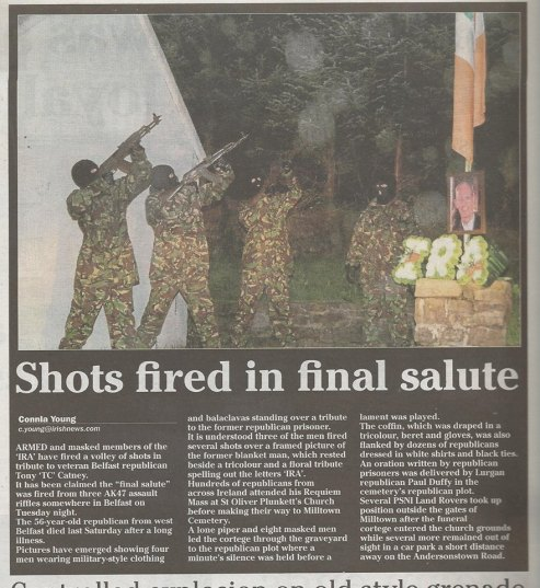 Shots at Tony Catney's Funeral