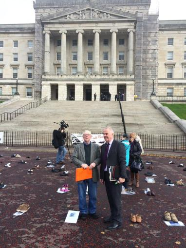 Victims stage Stormont protest