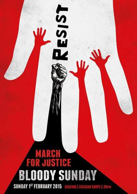Bloody sunday march - poster 2015