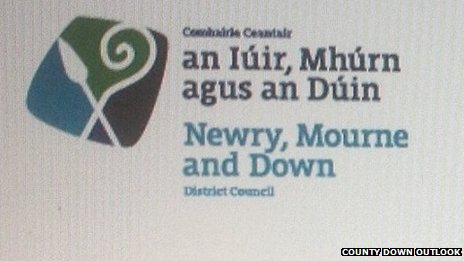 Così si presenterebbe il nuovo logo del District Council se la decisione del 'Irish First' verrà ratificata