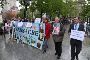 Ballymurphy Massacre Families protest at Prince Charles Visit
