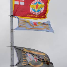 Nazi flags Carrickfergus