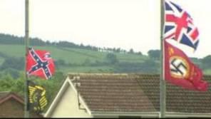 Nazi flags Carrickfergus
