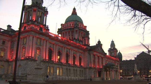 belfast city hall red light