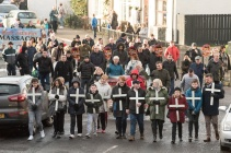 The annual Bloody Sunday March makes its way through the Brandywell in Derry, 47 years after the original march. Picture Martin McKeown. Inpresspics.com. 27.01.19