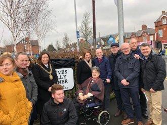 groves reilly corner unveiled cerimony