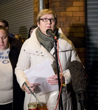 Sonia Copeland as A vigil is held Cluan Place where Ian Ogle was murdered on January 30th 2019 (Photo by Kevin Scott for Belfast Telegraph)