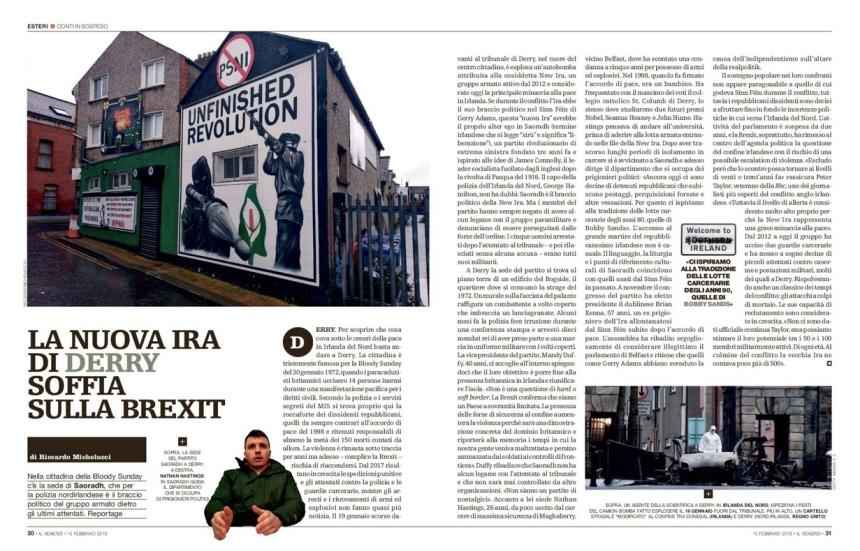 La nuova IRA di Derry soffia sulla Brexit