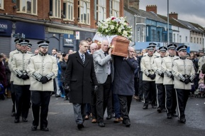 The funeral of Ian Ogle take place in east Belfast on February 4th 2019 (Photo by Kevin Scott for Belfast Telegraph)