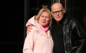 Linda Nash whose youngest brother William Nash died on Bloody Sunday with Eamonn McCann outside the city hotel Londonderry, Northern Ireland ahead of the announcement as to whether 17 former British soldiers and two former members of the Official IRA will be prosecuted in connection with the events of Bloody Sunday in the city in January 1972. PRESS ASSOCIATION Photo. Picture date: Thursday March 14, 2019. See PA story ULSTER Sunday. Photo credit should read: Niall Carson/PA Wire