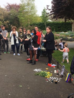 Dublin Lyra McKee vigil 2