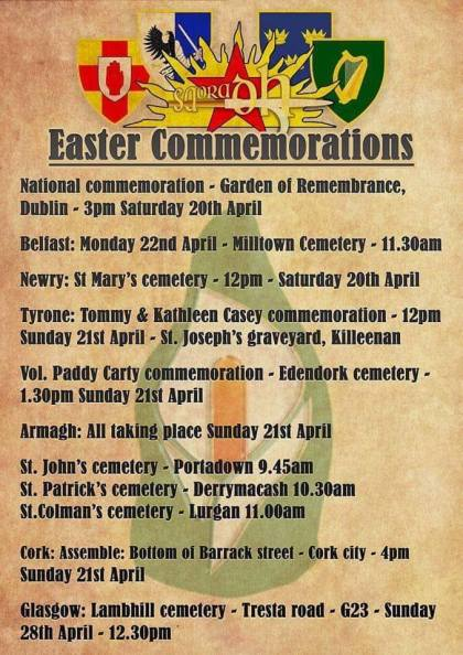 Flyer easter commemoration Saoradh