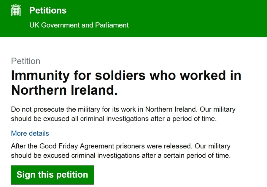 Immunity petition