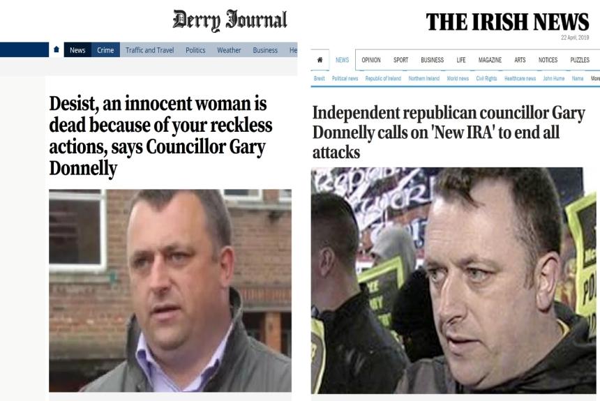 Newspaper comparison_ Gary Donnelly declaration