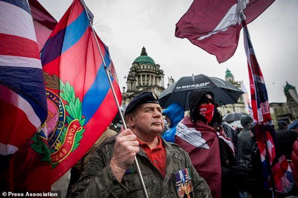 Soldier F rally Belfast City Hall 5