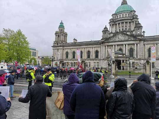 Soldier F rally Belfast City Hall 7