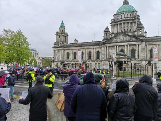 Soldier F rally Belfast City Hall 7