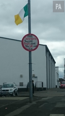 IRA graffiti in Creggan