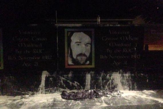 Memorial IRA bombed