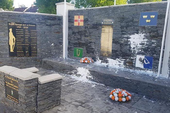 paint bomb republican monument