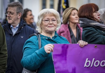 Kate Nash as a remembrance march for the 48th anniversary of Bloody Sunday takes place in the Creggan area Derry on February 2nd 2020 (Photo by Kevin Scott for Belfast Telegraph)