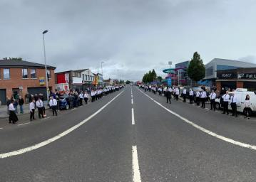 The funeral of Bobby Storey